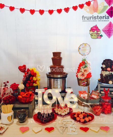 Fuente de chocolate Love
