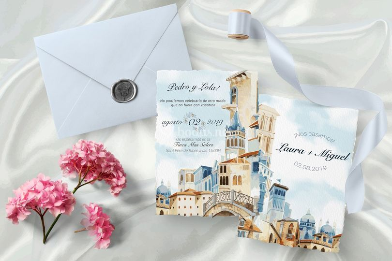 Invitation acuarela