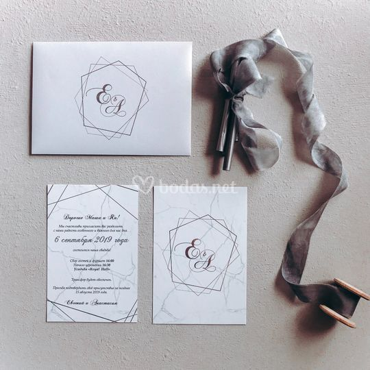 Invitaciones con láminas