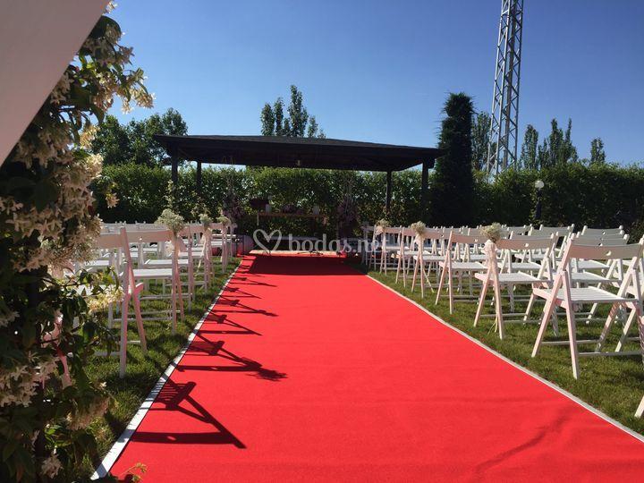 Cremonia civil en jardines