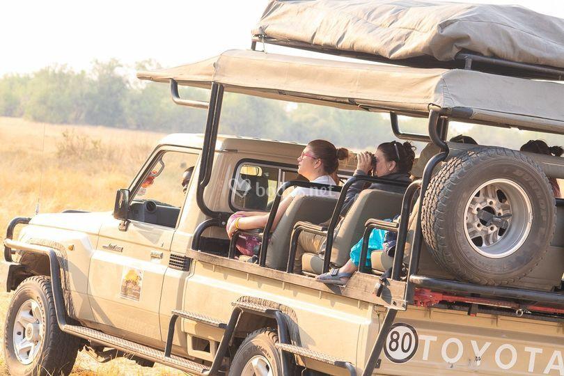 Coches anfibios en Botsuana