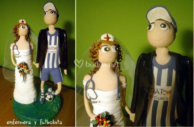 Enfermera y futbolista