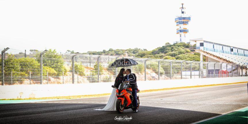 Postboda en circuito de Jerez