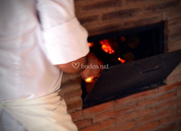 Horno catering finca