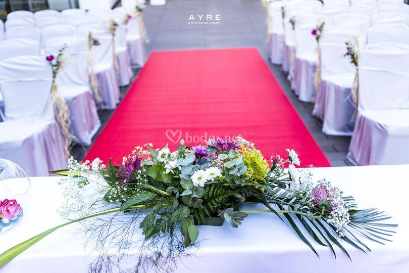 Detalle centro ceremonia civil