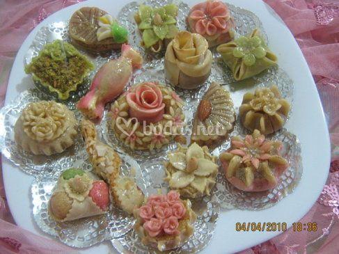 Selección de dulces para boda