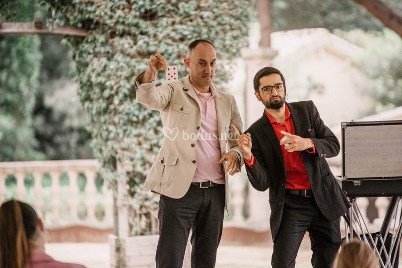 Actuando en una boda