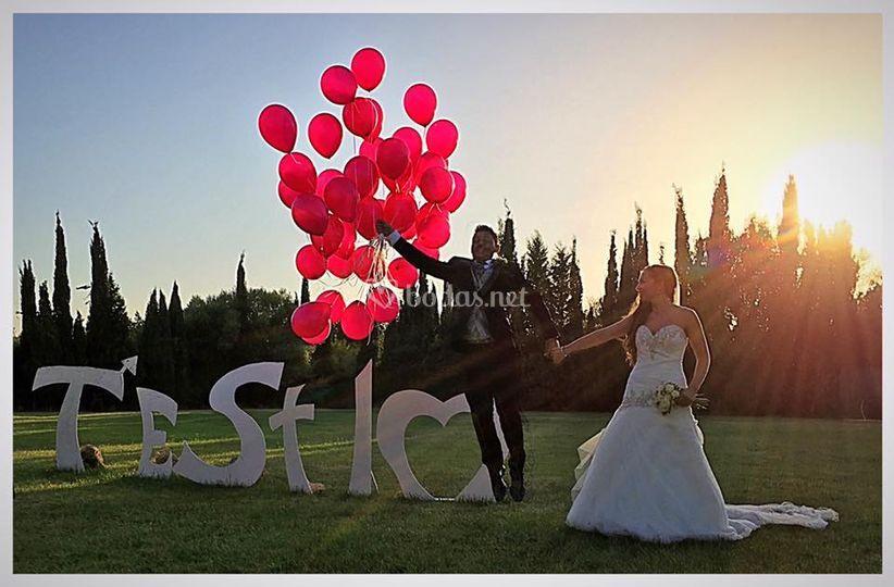 Suelta globos en  Mallorca
