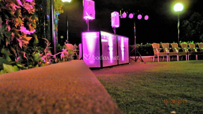 Propuesta básica Cabina Dj LED