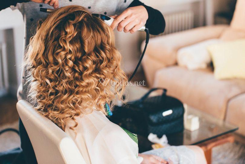 Preparación del cabello