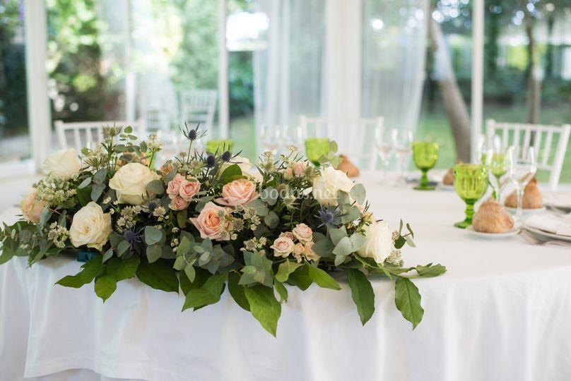 Comedor, decoración mesas
