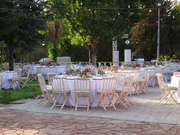 Banquete en terraza