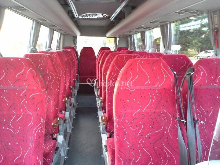Interior microbus de 22 plazas