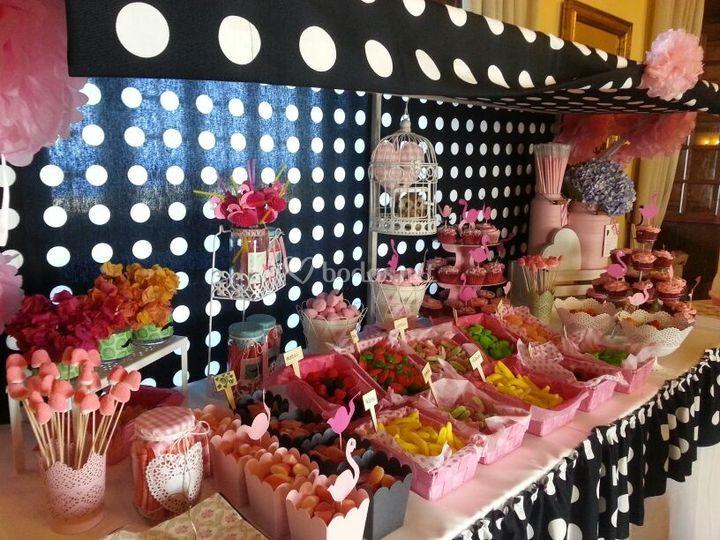 Mesa dulce con chuches