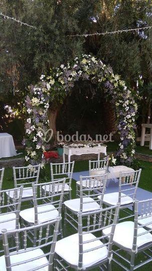 Arcos, muy presentes en bodas