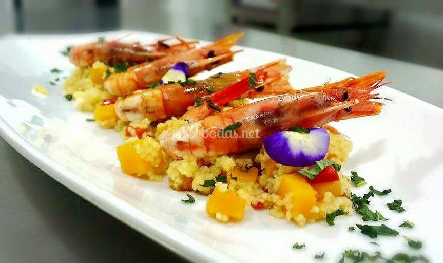 Langostinos con Cous Cous