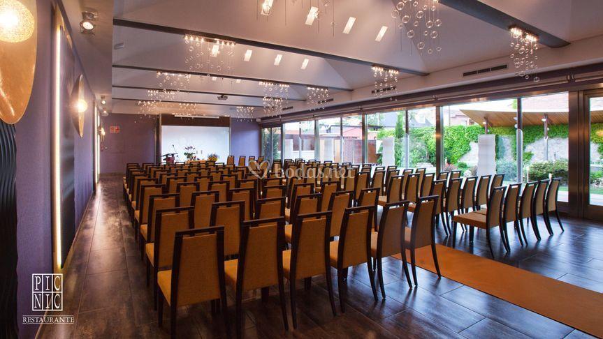 Sala para la ceremonia