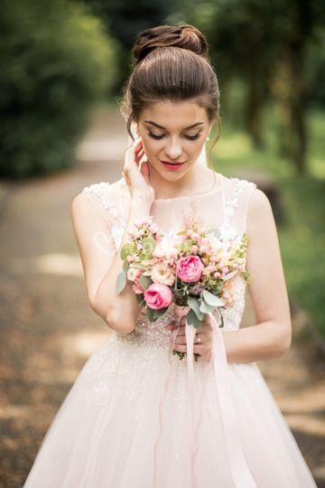 Labios intenso para novia