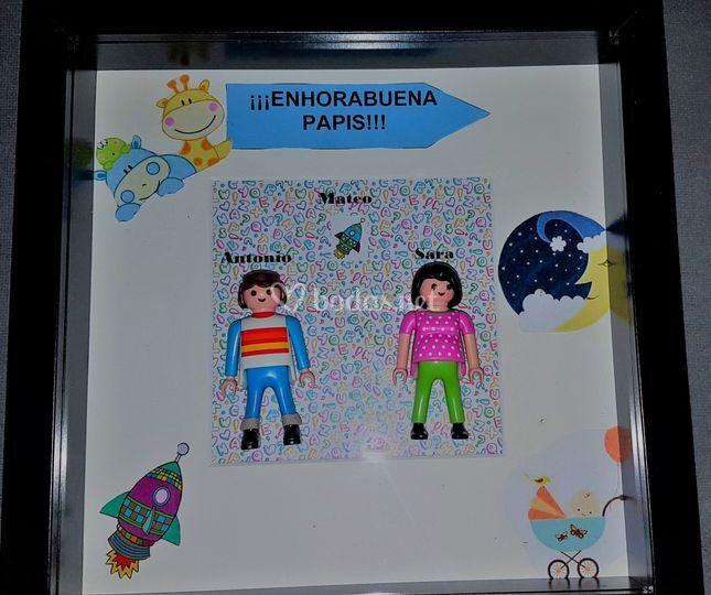 Cuadros muñecos personalizados