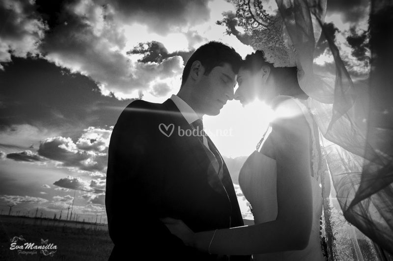 Novios nubes fotos boda