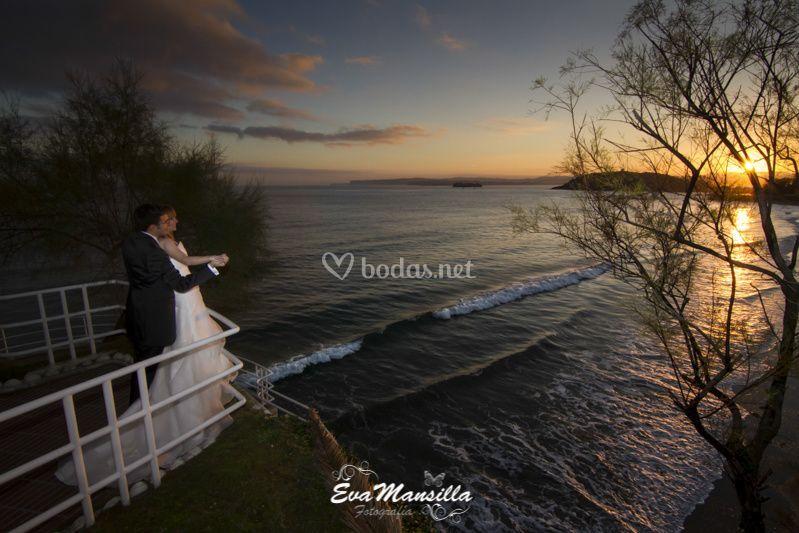 Playa Santander fotos boda