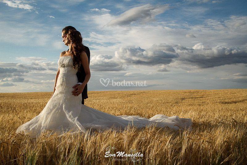 Trigales nube fotos boda