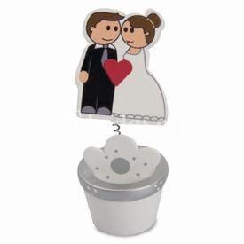Maceta boda con pinza portafotos