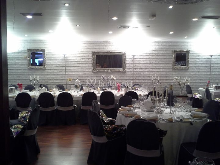 Salón de bodas de invierno