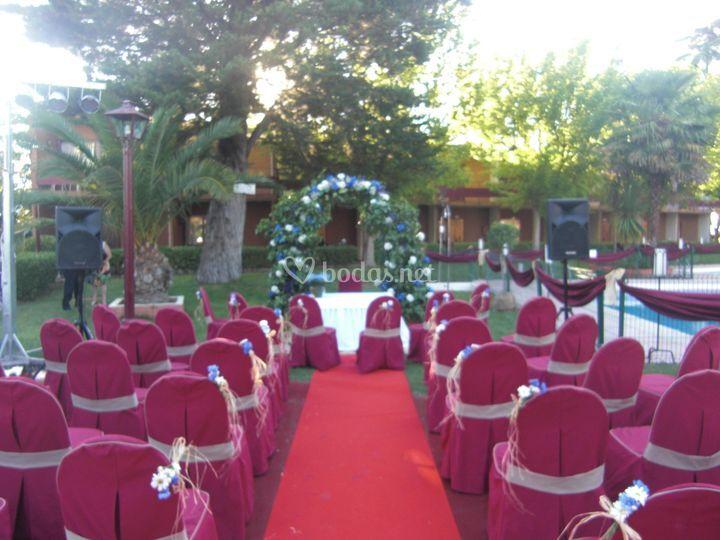 Montaje de la boda civil