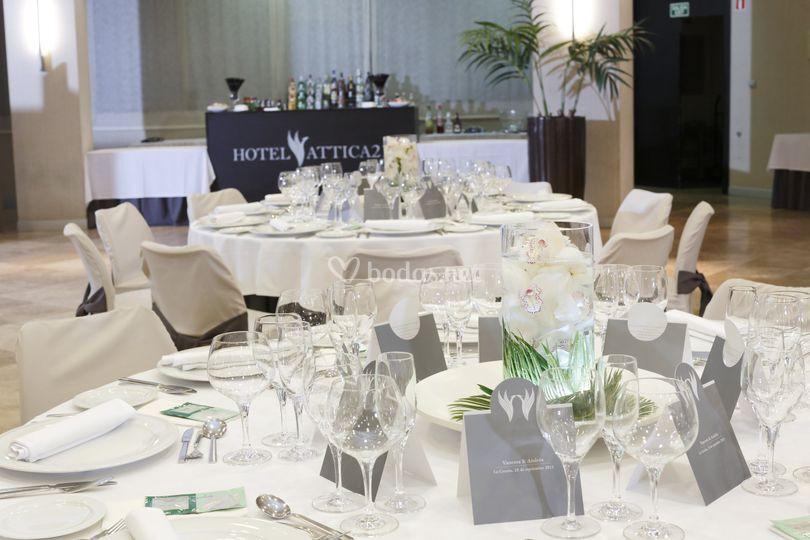 Salón Rias Altas para banquete