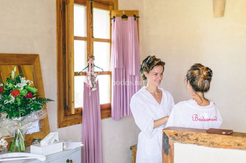Preparativos de la novia