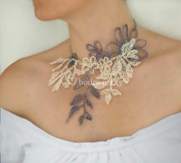 Collar de plata y cobre esmaltado