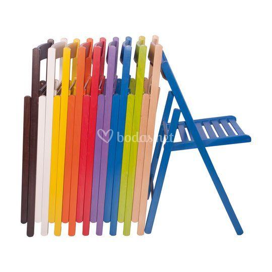 Sillas plegables de Colores