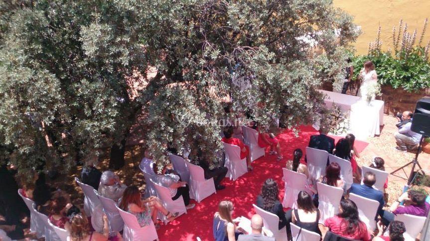 Ceremonia en el patio