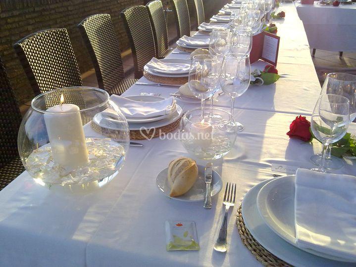 Detalle mesa boda familiar