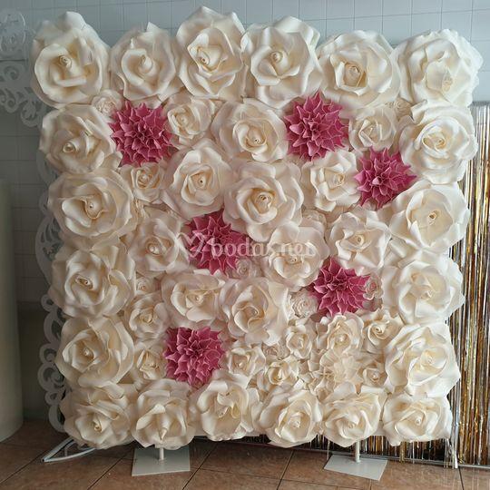 Photocall de rosas 2x2