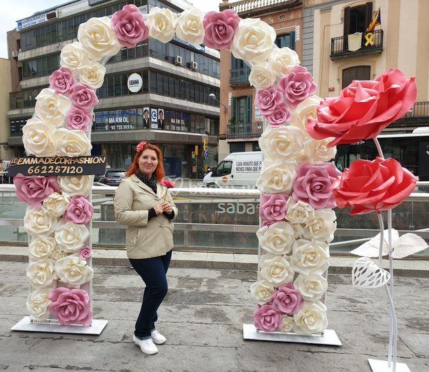 Arca floral para ceremonias