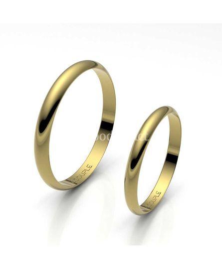 Alianza oro 1/2 caña de 2,5mm
