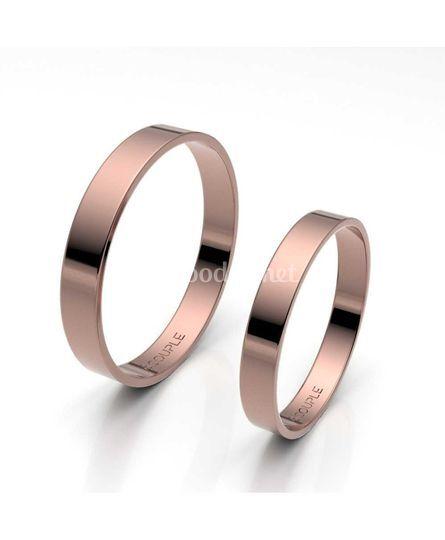 Alianza oro rosa de 3mm