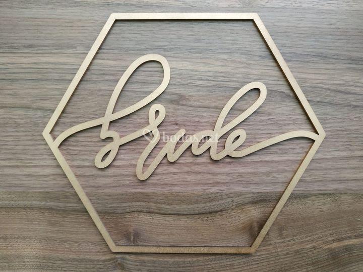 Cartel para silla - bride