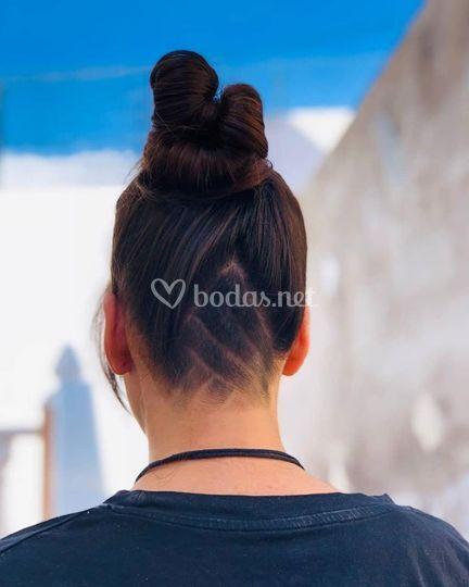 Peinado alto
