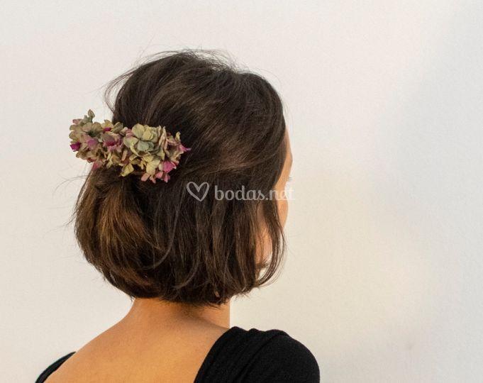 Peineta hortensia buganvilla