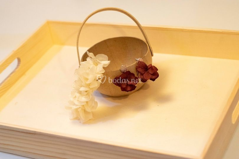 Accesorios florales boda