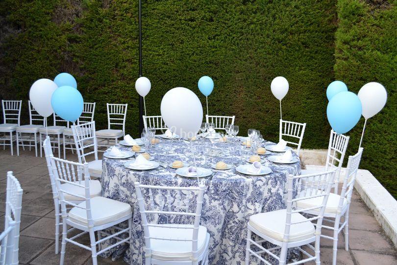 Banquete en exterior, mesa de niños