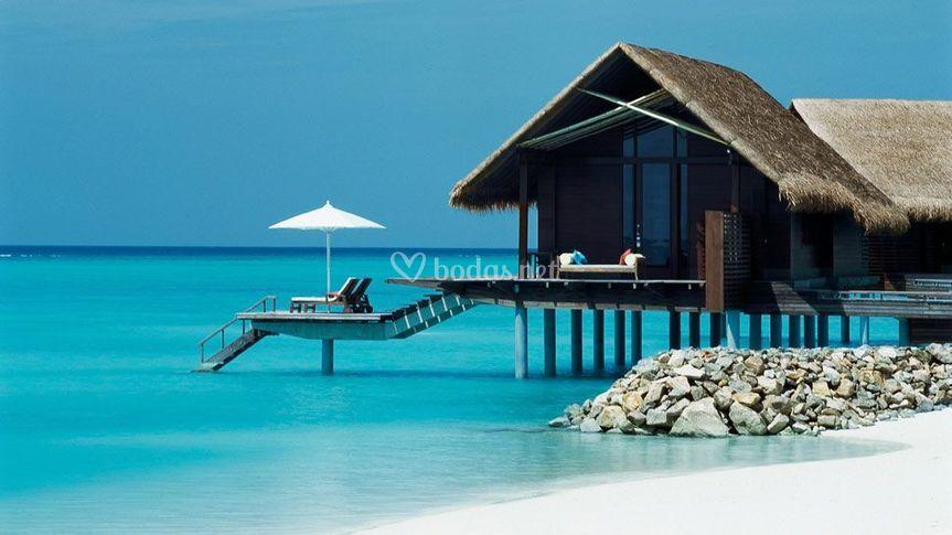 Villa privada en el agua