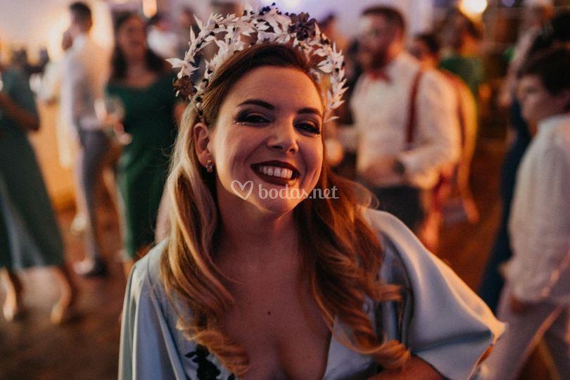 Diadema tocado novia