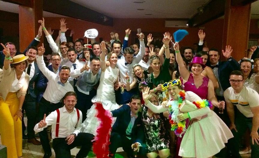 Foto grupo boda