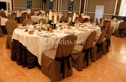Mesas de banquetes