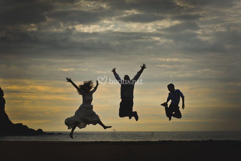 Fotos de boda salto