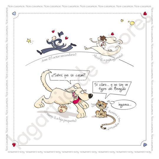 Mascotas anuncian boda